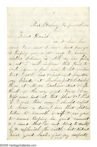 Union Soldier's 1864 Superlative Account of the Carnage at Cold Harbor Autograph Letter Signed in the hand of Private Wi...