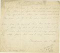 "Autographs:Authors, Katharine Lee Bates Autograph Poem Signed Autograph ManuscriptSigned, of her poem ""To The Old Year,"" delivered at a Wellesl..."