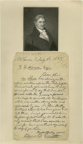 """Autographs:Authors, Was Daniel Emmett the Real Author of """"I wish I was in Dixie""""?.Daniel T. Emmett (1815-1904) Autograph Letter Signed, """"..."""