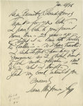 """Autographs:Celebrities, James Montgomery Flagg Handsome Autograph Letter About ColoradoSprings Autograph Letter Signed, 1 page, 8.5"""" by 11, no pla..."""