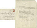 "Autographs:Celebrities, James Montgomery Flagg: Great Letter Defining ""Decency""! TypedLetter Signed, with a signature over 5 inches long; 1 page, 8..."