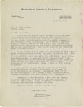 Autographs:Statesmen, Will H. Hays: Fine Letter on How to Propagate the 1919 RepublicanMessage. Typed Letter Signed, as chairman of the Republ...