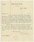Autographs:Statesmen, Three Significant-Content Letters Signed by Important MassachusettsSenator Henry Cabot Lodge (1850-1924) All on U.S Senate ... (Total:3 )