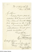 "Autographs:Inventors, Samuel F.B. Morse Autograph Letter Signed ""Saml. F.B.Morse."" One page, 4.9"" x 7.9"", No. 5 West 22nd Street, December31..."