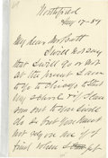 "Autographs:Celebrities, Dwight L. Moody Writes He's on His Way to Start the Moody Bible Institute in Chicago. Autograph Letter Signed (""D.L. Moody"")..."