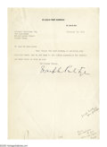 """Autographs:Celebrities, Joseph Pulitzer Jr. Thanks a Foxhunter-Editor for """"Valuable Leads."""" Typed Letter Signed, 1 page, 7"""" x 10.5"""", on the letterhe..."""