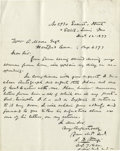 Autographs:Military Figures, 7th Cavalry Autograph Collection consisting of six signed documents and letters. The 7th Cavalry Regiment was organized on S...