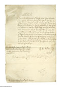 "Autographs:Non-American, Queen Anne of Great Britain Document Signed ""Anne R"". Onepage, 9.25"" x 14"", Windsor Castle, September 6, 1711, to Rober..."