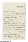 "Autographs:Authors, Robert Browning Pair of Autograph Letters Signed. Letter 1: One page, 4.5"" x 7"", personal letterhead, np, ""Black Monday"", ... (Total: 2 )"