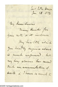 "Autographs:Authors, John Stuart Mill Autograph Letter Signed ""J.S. Mill."" Three pages, 4.5"" x 7.25"", East India House, January 16, 1856;..."