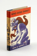 "Books:First Editions, Who Goes There? By John W. Campbell Jr., (Chicago: ShastaPublishers, 1948), 12mo (5.25"" x 7.75""), original blue cloth,..."