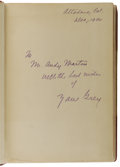 Books:Non-fiction, Zane Grey Signed First: Tales of the Angler's Eldorado New Zealand (New York: Harper and Brothers, 1926) First Edition, ...