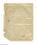 Books:Fiction, Robert E. Howard Typed Manuscript and Rejection Letter for: TheGrey God Passes. This lot features the original typed ma...(Total: 3 items)
