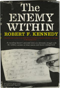 Books:Signed Editions, Robert F. Kennedy Signed Book to Lyndon Johnson: The EnemyWithin (New York: Harper & Brothers, 1960), first edition,xi...