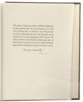 Books:Fiction, Rockwell Kent Signed Limited Edition: Venus and Adonis byWilliam Shakespeare (The Printing House of Leo Hart, 1931) Ill...