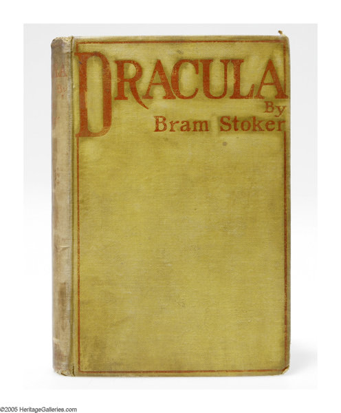 Books Signed Editions Bram Stoker First Edition Book Dracula Westminster
