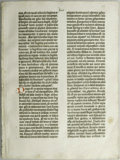 Books:Non-fiction, Original Leaf from a Gutenberg Bible (Isaiah 13:14 - 16:7). Fromthe earliest times (dating back to 2000 B.C. or earlier), b...