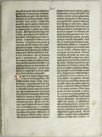 Original Leaf from a Gutenberg Bible (Isaiah 13:14 - 16:7). From the earliest times (dating back to 2000 B.C. or earlier...