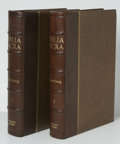 Books:Non-fiction, Gutenberg Bible Facsimile Edition (New York: Pageant Books, 1961) Folio, Two Volumes, half leather, spine with raise... (Total: 2 items)