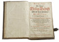Books:Non-fiction, Bible German Luther Edition (Basel, 1736) Folio, fullcontemporary vellum, embossed, stained and worn. Brass corners...