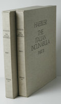 Books:Non-fiction, Konrad Haebler Italian Incunabula (Munich, 1927-1928) One of100. Translated by Andre Barbey 2 vols plus text vol in fac...(Total: 110 )