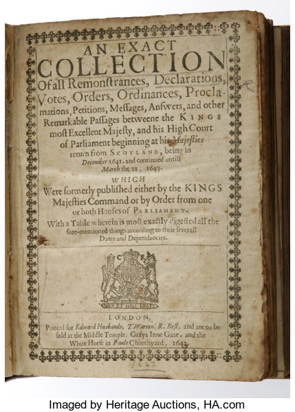 Charles I An Exact Collection Of All Remonstrances Declarations