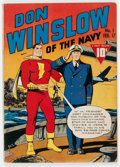 Golden Age (1938-1955):War, Don Winslow of the Navy #1 (Fawcett Publications, 1943) Condition: VG....