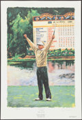Golf Collectibles:Miscellaneous, Davis Love III Signed Lithograph. ...