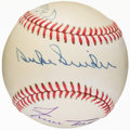 Baseball Collectibles:Balls, Willie Mays, Mickey Mantle and Duke Snider Multi SignedBaseball....