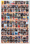 Memorabilia:Trading Cards, Topps NBA 1996-97 Basketball Uncut Trading Cards Sheet (Topps,1996)....