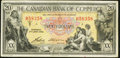 Canadian Currency: , Toronto, ON- The Canadian Bank of Commerce $20 Jan. 2, 1935 Ch.75-18-10. ...