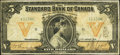 Canadian Currency: , Toronto, ON- The Standard Bank of Canada $5 Jan. 2, 1919 Ch #695-18-10. ...