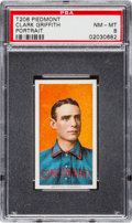 Baseball Cards:Singles (Pre-1930), 1909-11 T206 Piedmont Clark Griffith, Portrait PSA NM-MT 8 - NoneHigher. ...
