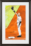 Baseball Collectibles:Others, 2014 Derek Jeter Signed Lithograph....