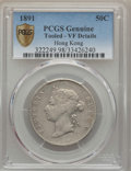 Hong Kong :British Colony, Hong Kong : British Colony. Victoria 50 Cents 1891 VF Details (Tooled) PCGS,...
