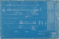 Baseball Collectibles:Others, 1922 Yankee Stadium Blueprint....