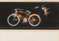 Paintings, Viktor Schreckengost (American, 1906-2008). Design for Red Bicycle for the Murray Ohio Manufacturing Company. Mixed medi...