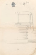Works on Paper, Viktor Schreckengost (American, 1906-2008). Preliminary Drawings for Cab-Over-Engine Truck Design for White Motor Company ... (Total: 2 Items)