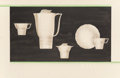 Paintings, Viktor Schreckengost (American, 1906-2008). White Dinnerware Concept Design with Green Lines (two works). Mixed media on... (Total: 2 Items)
