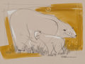 Works on Paper, Viktor Schreckengost (American, 1906-2008). Polar Bear with Baby. Watercolor on board. 11 x 14 inches (27.9 x 35.6 cm). ...