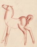 Fine Art - Work on Paper:Drawing, Viktor Schreckengost (American, 1906-2008). Sketch forBalashan, circa 1942. Soft pastel on tracing paper. 24 x 18-3/4i...