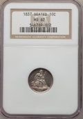 Seated Dimes, 1837 10C No Stars, Large Date, F-101a, R.2, MS62 NGC....