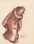 Fine Art - Work on Paper:Drawing, Viktor Schreckengost (American, 1906-2008). Refugees. Softpastel on tracing paper. 18-3/4 x 23-3/4 inches (47.6 x 60.3 ...