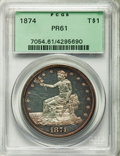 Proof Trade Dollars, 1874 T$1 PR61 PCGS....