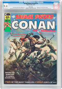 Savage Sword of Conan #1 (Marvel, 1974) CGC NM 9.4 White pages