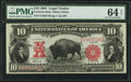 Large Size:Legal Tender Notes, Fr. 121 $10 1901 Mule Legal Tender PMG Choice Uncirculated 64 EPQ.....