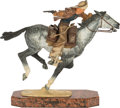 Fine Art - Sculpture, American:Contemporary (1950 to present), Harry Jackson (American, 1924-2011). Pony Express II, 1980.Bronze with polychrome patina. 13 inches (33.0 cm) high on a...