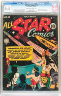 Golden Age (1938-1955):Superhero, All Star Comics #13 (DC, 1942) CGC FN+ 6.5 Cream to off-white pages....