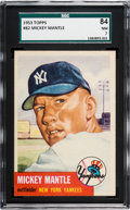 Baseball Cards:Singles (1950-1959), 1953 Topps Mickey Mantle #82 SGC 84 NM 7. ...