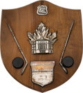 Hockey Collectibles:Others, 1972-73 Conn Smythe Trophy Plaque Presented to Yvan Cournoyer....